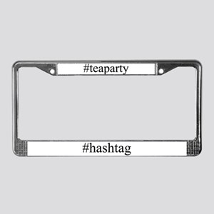 #teaparty License Plate Frame