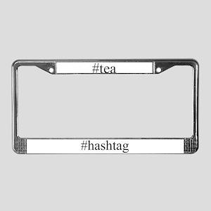 #tea License Plate Frame