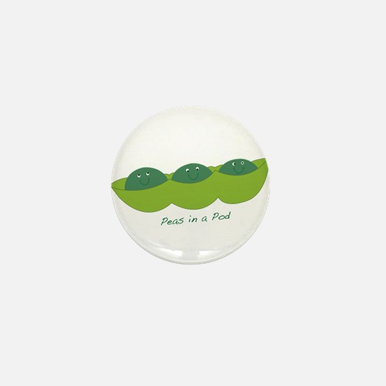 Happy Peas in a Pod Mini Button