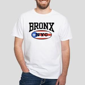 Bronx Puerto Rican White T-Shirt