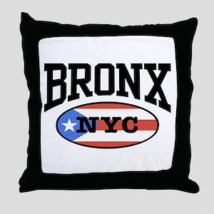 Bronx Puerto Rican Throw Pillow