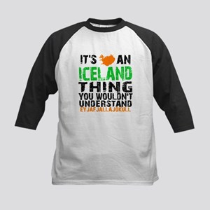 Iceland Thing Kids Baseball Jersey