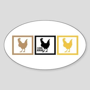 I Love Chicken Adobo Sticker (Oval)