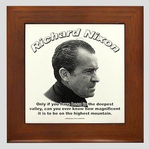 Richard Nixon 01 Framed Tile