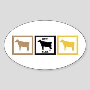 I Love Beef Nilaga Sticker (Oval)