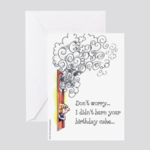 """Don't Worry..."" Birthday Card"