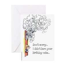 """Don't Worry..."" Birthday Card"