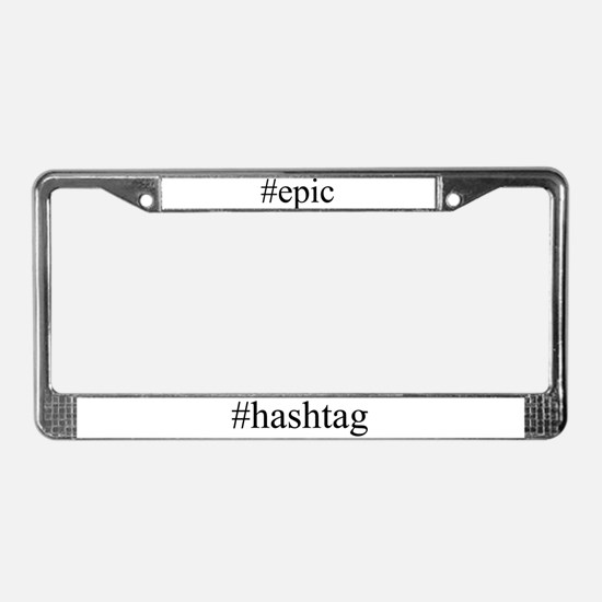 #epic License Plate Frame