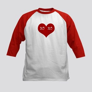 Hugs & Kisses Valentine Kids Baseball Jersey