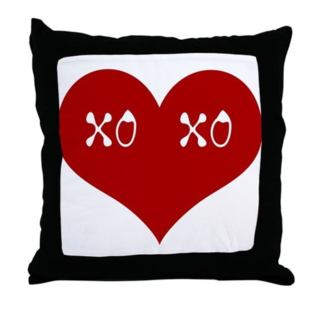Hugs & Kisses Valentine Throw Pillow