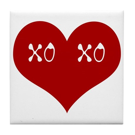 Hugs & Kisses Valentine Tile Coaster