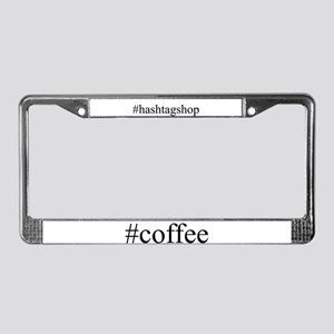 #coffee License Plate Frame