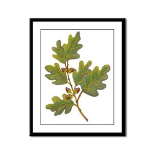 Oak Leaves Framed Panel Print