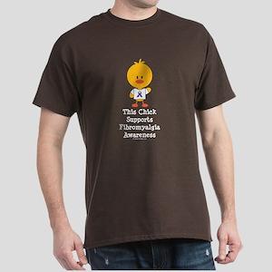 Fibromyalgia Awareness Chick Dark T-Shirt