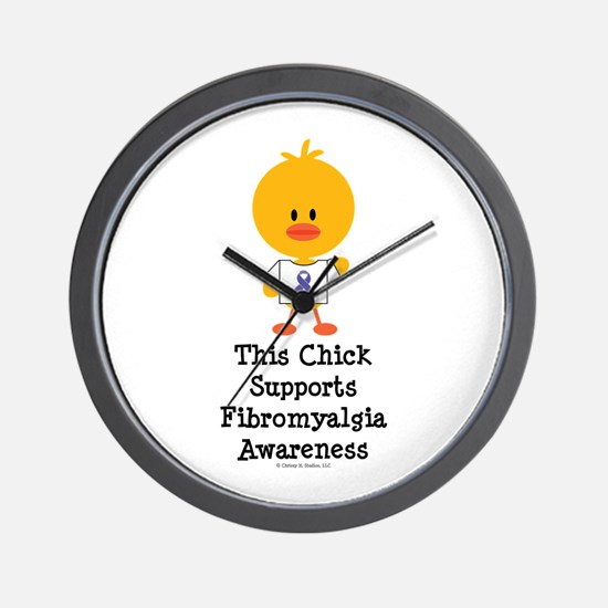 Fibromyalgia Awareness Chick Wall Clock