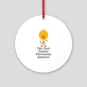 Fibromyalgia Awareness Chick Ornament (Round)