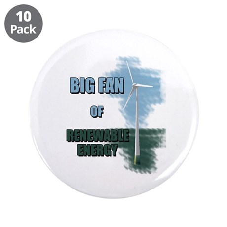"Big fan 3.5"" Button (10 pack)"