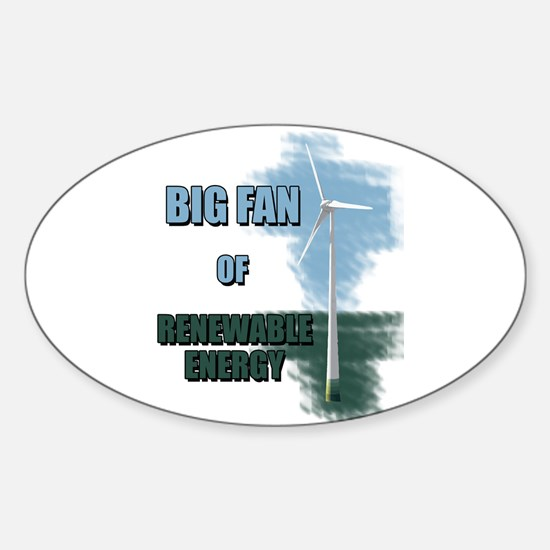 Big fan Sticker (Oval)