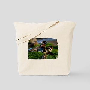 Wood Duck Wing Tote Bag