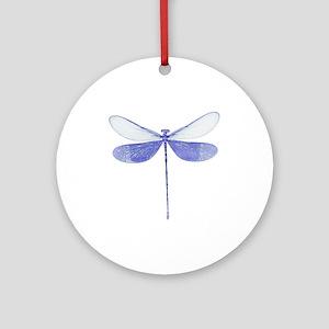Blue Dragonfly Keepsake (Round)