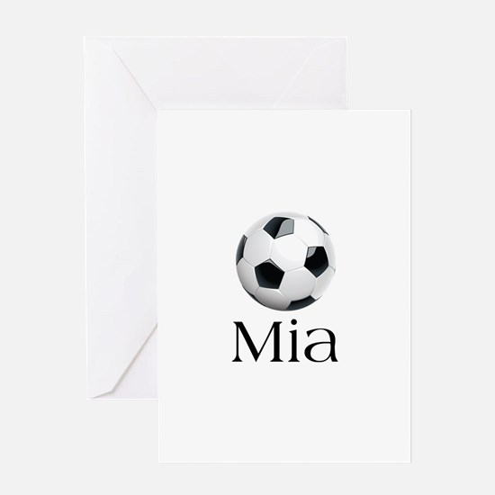 Mia Soccer Greeting Card