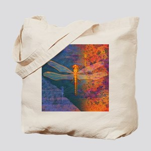 Flaming Dragonfly Tote Bag