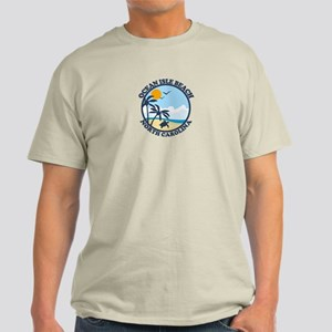 Ocean Isle Beach NC - Beach Design Light T-Shirt