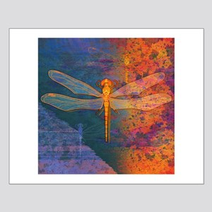 Flaming Dragonfly Poster