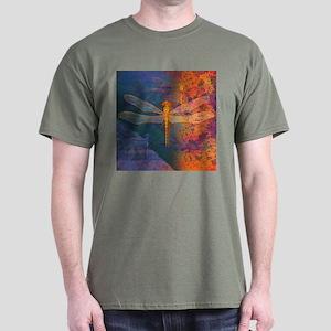Flaming Dragonfly Dark T-Shirt