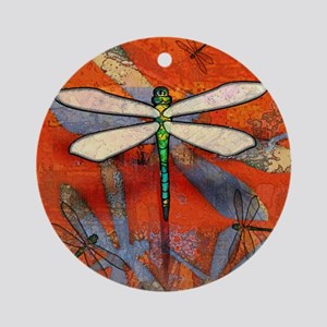 Dragonfly Round Ornament