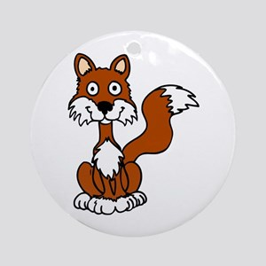 Cute Sly Fox Ornament (Round)