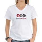Beercycling Women's V-Neck T-Shirt