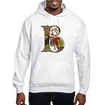 Celtic Art Initial B Hooded Sweatshirt