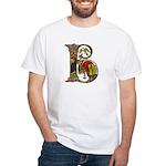 Celtic Art Initial B White T-Shirt