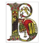 Celtic Art Initial B Unframed Print