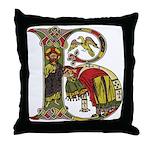 Celtic Art Initial B Throw Pillow