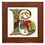 Celtic Art Initial B Framed Tile