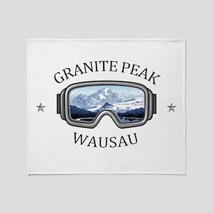 Granite Peak - Wausau - Wisconsin Throw Blanket