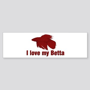 I Love My Betta Sticker (Bumper 10 pk)