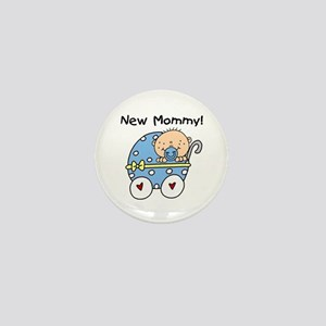 New Mommy Baby Boy Mini Button