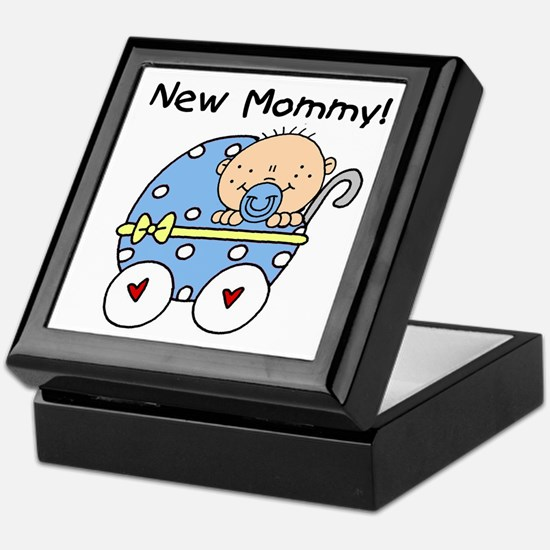 New Mommy Baby Boy Keepsake Box
