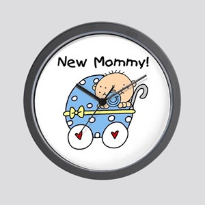 New Mommy Baby Boy Wall Clock