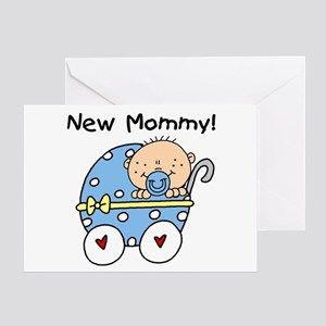 New Mommy Baby Boy Greeting Card