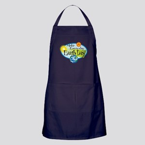 Make Every Day Earth Day Apron (dark)