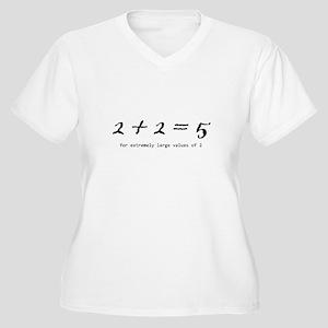 2 + 2 = 5 Women's Plus Size V-Neck T-Shirt