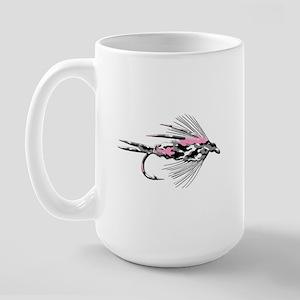 PINK CAMO FLY Large Mug