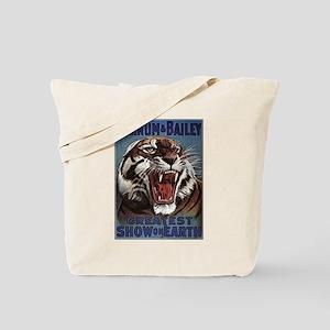 Vintage Circus Tiger Tote Bag