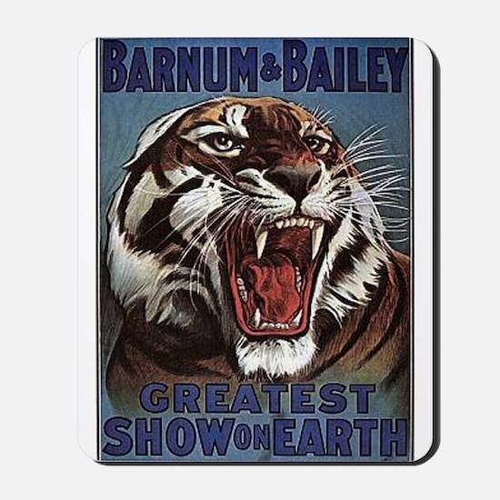Vintage Circus Tiger Mousepad