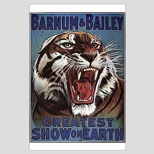 Vintage Circus Tiger Large Poster