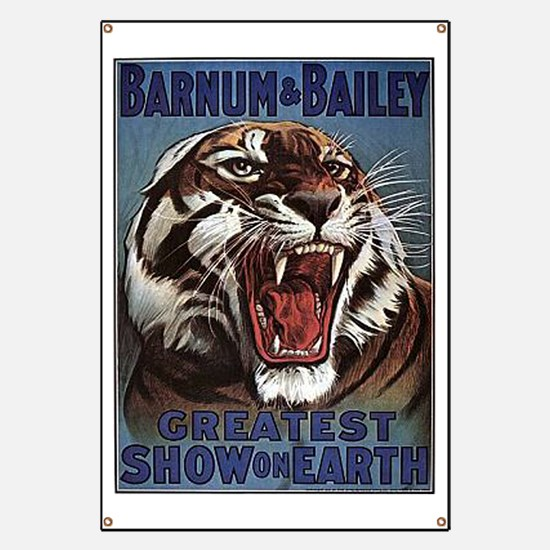 Vintage Circus Tiger Banner